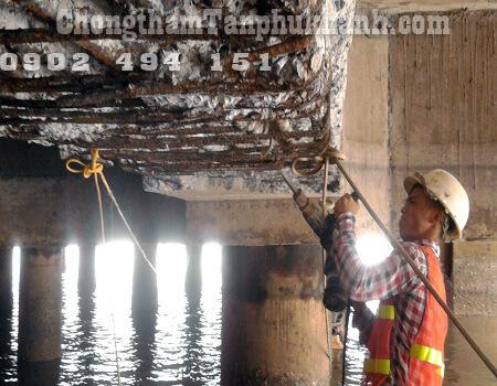 sửa chữa thép bị rỉ sét cầu cảng