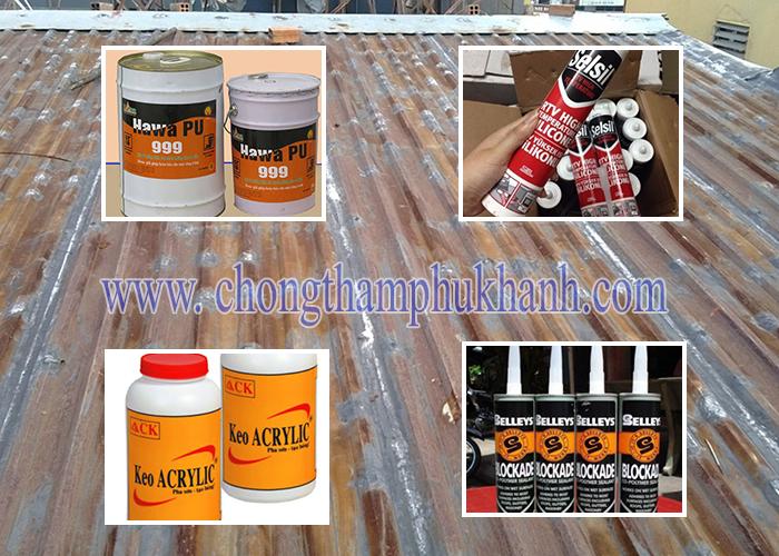 Các loại keo thường dùng để chống dột mái tôn